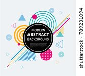 modern abstract geometric
