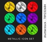 composer 9 color metallic...   Shutterstock .eps vector #789232684