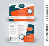 tri fold brochure design.... | Shutterstock .eps vector #789233356