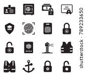solid black vector icon set  ... | Shutterstock .eps vector #789233650