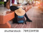 beautiful asia woman traveler... | Shutterstock . vector #789234958