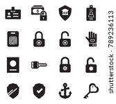 solid black vector icon set  ... | Shutterstock .eps vector #789236113