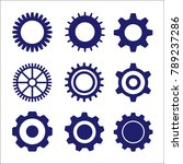 gear or cog icon on a white... | Shutterstock .eps vector #789237286