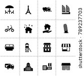 city icons. vector collection... | Shutterstock .eps vector #789237703