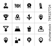 place icons. vector collection...