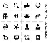 social icons. vector collection ... | Shutterstock .eps vector #789237820