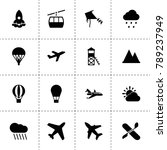sky icons. vector collection...