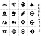 wheel icons. vector collection...