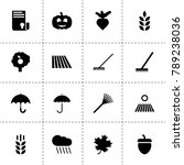 autumn icons. vector collection ...