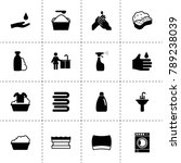 soap icons. vector collection...