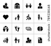 human icons. vector collection... | Shutterstock .eps vector #789238168