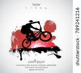 bmx rider during trick | Shutterstock .eps vector #789241216