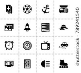 retro icons. vector collection...