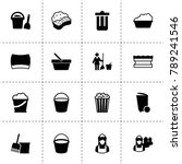 bucket icons. vector collection ...