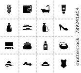 beauty icons. vector collection ...