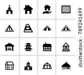 roof icons. vector collection...