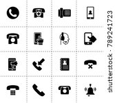 call icons. vector collection...