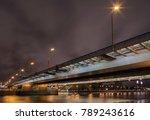 road bridge at night  | Shutterstock . vector #789243616