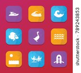 river icons. vector collection...