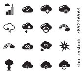solid black vector icon set  ... | Shutterstock .eps vector #789246964