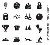 solid black vector icon set  ... | Shutterstock .eps vector #789248044