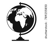geography icon. simple... | Shutterstock . vector #789255850