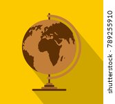 geography icon. flat... | Shutterstock . vector #789255910