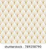 abstract art deco seamless... | Shutterstock .eps vector #789258790