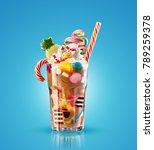 colourful  festive cocktail...   Shutterstock . vector #789259378