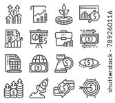 vector investment icons set....   Shutterstock .eps vector #789260116