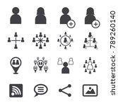social icon  social concept in... | Shutterstock .eps vector #789260140