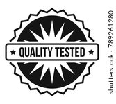 quality tested logo. simple... | Shutterstock . vector #789261280