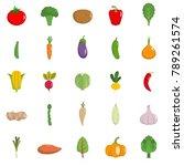 vegetables icons set. flat... | Shutterstock . vector #789261574