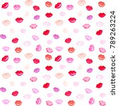 watercolor seamless pattern... | Shutterstock . vector #789263224