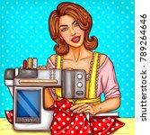 vector smiling pretty woman... | Shutterstock .eps vector #789264646