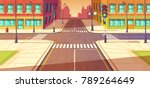 city crossroads  intersection... | Shutterstock .eps vector #789264649