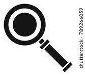cursor magnifier icon. simple... | Shutterstock . vector #789266059