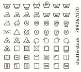 icon set of laundry symbols ... | Shutterstock .eps vector #789267070