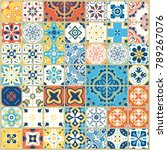 seamless pattern with with... | Shutterstock .eps vector #789267076