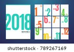wall monthly calendar for the...   Shutterstock .eps vector #789267169
