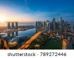 aerial view of singapore... | Shutterstock . vector #789272446