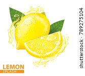 lemon splash vector illustration | Shutterstock .eps vector #789275104