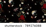 seamless floral pattern in... | Shutterstock .eps vector #789276088
