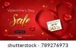 valentines day sale background... | Shutterstock .eps vector #789276973