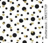 seamless hand drawn ink polka... | Shutterstock .eps vector #789277729