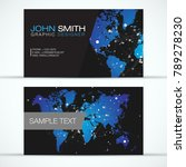 elegant modern business card... | Shutterstock .eps vector #789278230