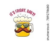 its friday baby vector concept... | Shutterstock .eps vector #789278680