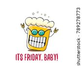 its friday baby vector concept... | Shutterstock .eps vector #789278773