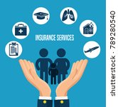 insurance services concept | Shutterstock .eps vector #789280540