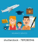 insurance services concept | Shutterstock .eps vector #789280546